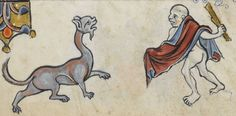 """Detail from """"The Rutland Psalter"""", medieval (c1260), British Library Add MS 62925. f 111v"""