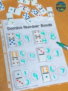 Here is a simple, fun way to practice number bonds in your math groups – use dominoes! Get the free printable page to use in your classroom Here is a simple, fun way to practice number bonds in your math groups – use dominoes! Not only doContinue reading Kindergarten Math Activities, Homeschool Math, Teaching Math, Kindergarten Graduation, Kindergarten Reading, Homeschooling, Maths Games Ks1, 1st Grade Math Games, Number Sense Kindergarten