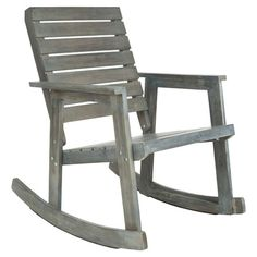 Stratford Indoor/Outdoor Arm Rocking Chair in Ash at Joss and Main