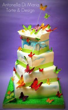 ♥ Butterfly release cake