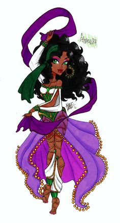MH Disney: Esmeralda by Xibira.deviantart.com on @deviantART