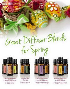 Great Diffuser Blends for Spring. Ask me how you too can get your doTerra products at wholesale prices. http://mydoterra.com/CoachBravo