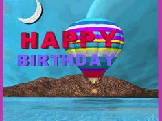 Happy Birthday pictures that move, animated cake and party clip art