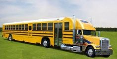 none of us enjoyed riding the bus to school. Then again, if my bus driver had driven one of these, I may have sang a different tune. Custom Big Rigs, Custom Trucks, Custom Cars, Big Rig Trucks, Cool Trucks, Cool Cars, Semi Trucks, Mack Trucks, Bus Camper