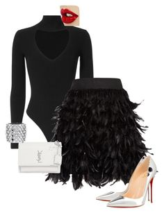 """Untitled #217"" by ms-ashmarie on Polyvore featuring Cushnie Et Ochs, Alice + Olivia, Christian Louboutin, Tom Ford and Yves Saint Laurent"