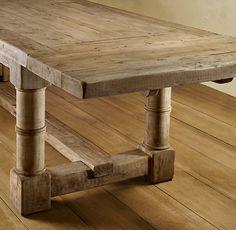 $2545 Gun Barrel Salvaged Wood Dining Tables - Restoration Hardware