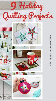 The holiday season is upon us! This exciting time is full of projects and gift making. That's why National Quilters Circle put together a list of 9 projects that will help decorate your tree or fill your family's stockings. This season, we wanted to gather other quilters in the amazing online community and share their awesome projects with you.