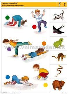Cvičení -napodobování Kindergarten Math Activities, Montessori Activities, Preschool Math, Educational Activities, Phonics Worksheets, Worksheets For Kids, Baby Yoga, Autism Classroom, Thinking Skills