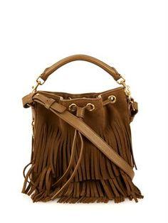 f41815ef42f8 Small Emmanuelle suede cross-body bucket bag by Saint Laurent Best  Handbags
