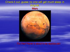 Are We Headed for a Close Encounter with Mars?: Slide #1