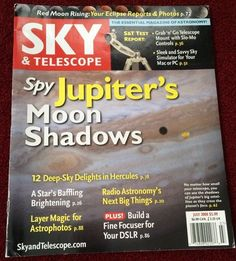 Sky & Telescope, July 2008 back issue, English, Jupiter Moons, Red Moon,Hercules