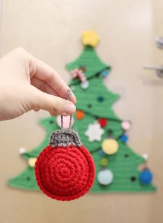 Christmas Bauble Ornaments Crochet Pattern Flatland Christmas Baubles Crochet Pattern - Once Upon a Cheerio Crochet Christmas Decorations, Crochet Christmas Ornaments, Crochet Decoration, Holiday Crochet, Christmas Knitting, Diy Christmas Ornaments, Crochet Gifts, Christmas Fun, Christmas Sewing