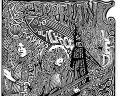 Led Zeppelin Stairway to Heaven Robert Plant  ☯☮ Psychedelic Art - Color It Yourself!