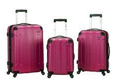 I researched for affordable, hard-sided luggage for a few months. I love these since they stick out on the luggage belt at the airport, they are not real heavy at all and take a beating and have not had not any issues with them at all. have taken them on two international flights and few road trips and they work great.