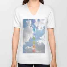 Chakras up to the Sky Unisex V-Neck by azima Energy Symbols, Up To The Sky, Power Energy, Parthenon, Chakras, American Apparel, V Neck T Shirt, Greek, Product Description