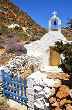 Church of Aghios Athanasios at Anafi island, Cyclades, Greece Greece Pictures, Ocean Pictures, Beautiful World, Beautiful Places, Beautiful Pictures, Italy Vacation, Vacation Spots, Places Around The World, Around The Worlds