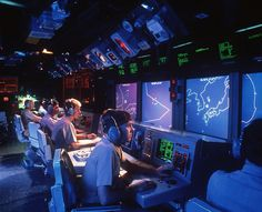Aegis screen displays aboard the USS Vincennes which shot down Iran Air Flight 655 in 1988