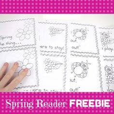 FREE Spring, Spring Poetry Reader by Maggie's Kindergarten