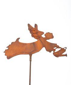 Z Garden Party Angel Watering Steel Sculpture Rustic Sculptures, Garden Whimsy, Steel Sculpture, Moose Art, Angel, Artist, Outdoor Decorations, Animals, Party