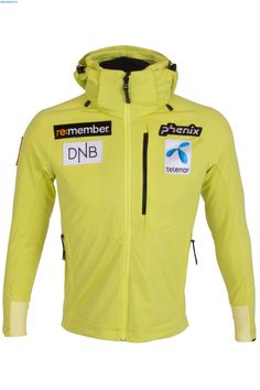 Phenix Men Norway Alpine Team Soft Shell Jacket - Lime Ski Gear, Norway, Skiing, Hooded Jacket, Shells, Lime, Clothing, Summer, How To Wear