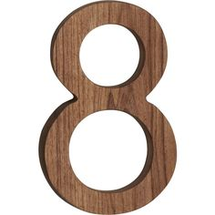 CB2 Reclaimed Teak House Number 8 ($13) ❤ liked on Polyvore featuring home, outdoors, outdoor decor, numbers and cb2