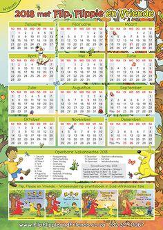 Flip Flippie and Friends Afrikaans Calendar