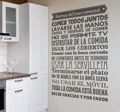 Estas son las #Normas del buen comensal de Tenvinilo. ¿Estáis de acuerdo con todas? Más información del este #vinilococina que no puede faltar en vuestras casas: http://bit.ly/vinilo-cocina #vinilosdecorativos #deco #vinilosparacocina #vinilococina #buenomodales #decoracion #diseñodeinteriores #homestyle #homedeco #cocinas