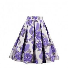 Elegant Purple Rose Printed A-Line Pleated Swing Skirt Specifications Material 95% Cotton+5% Spandex Decoration Ruffles Length Above knee Size S, M, L, XL, XXL Color Mix Color Category Skirts Upload Date 2017-05-11 Detail You'll be the queen of the rose garden, dear! This Wholesale Purple Rose Print A-Line Pleated Swing Skirt features a high waist with an waist band and a gorgeous blooming purple rose print! The fabulous print stands out in its bright colors which is the perfect skirt for…