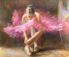 For Sale on - Ballerina in Pink, Canvas, Oil Paint by Elena Rezayeva. Ballerina Painting, Ballerina Art, Ballet Art, Ballerina Photography, Pink Painting, Ballet Dance, Painting Gallery, Impressionist Paintings, Mural Art