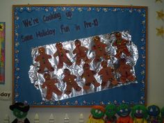 christmas bulletin board ideas | Cooking Up Holiday Fun Bulletin Board - MyClassroomIdeas.com