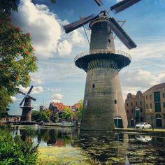 Windmills, Holland, Schidam