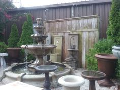 Great fountains of all shapes and sizes at Palladio Garden: 741 S. Cox St. Memphis, 38104