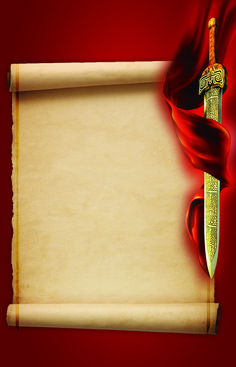 double-edged,sword,roll,poster,gone,flag,banner,dark,brown,hd