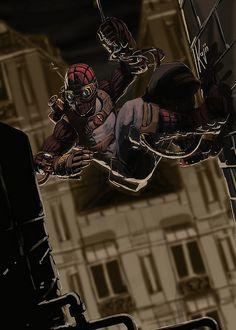 Steampunk Spider-Man - by Gustavo Valencia