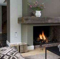 Landelijk en warm - Lilly is Love Home Decor Inspiration, House, Cozy Fireplace, Home Fireplace, Living Room Decor Fireplace, Fireplace Design, New Homes, Home Deco, Fireplace