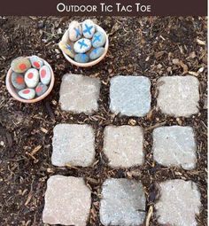 Simple outside Tic Tac Toe Game More Creative Gardening ideas http://thegardeningcook.com/creative-gardening-ideas/
