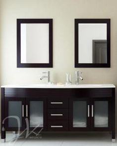 The Fresca Vilanie Modern Double Bathroom Vanity Is Known For Its Clean,  Straight Lines And Its Stylish Wenge Finish. Its Wall Mounted Design  Provides An ...