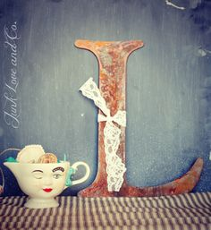 Big Rusty Metal Letter L by Junk Love and Co by JunkLoveandCo, $28.00