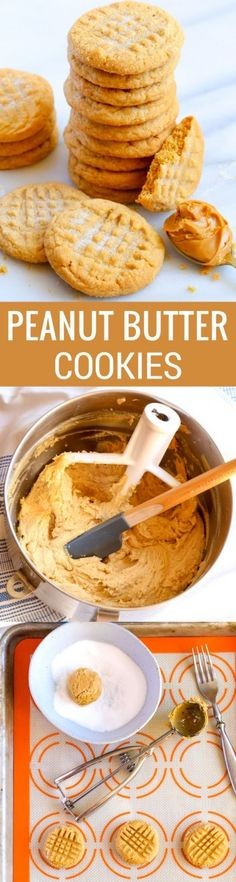 Classic Peanut Butter Cookies taste best with a tall glass of ice-cold milk! Enjoy this scrumptious cookie recipe that's quick and easy to make. Classic Peanut Butter Cookies, Peanut Butter Recipes, Brownies, Baking Recipes, Cookie Recipes, Dessert Recipes, Easy Desserts, Delicious Desserts, Yummy Food