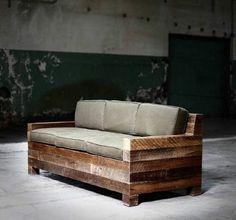 fabriquer des meubles avec des palettes, canape palette pas cher