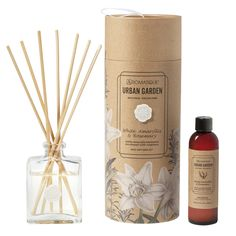 Aromatique White Amaryllis and Rosemary Reed Diffuser Set Room Scents, Diy Soaps, Glass Vessel, Oil Diffuser, Clear Glass, Fragrance, Packaging, Candles, Bottle