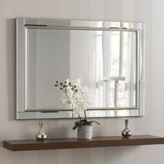 Wall Mirrors Uk, Hallway Mirror, Beveled Mirror, Beveled Glass, Full Length Mirror Wall, Art Deco Stil, Light And Space, Venetian Mirrors, Silver Framed Mirror