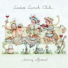 Club damas! Comida al aire libre!