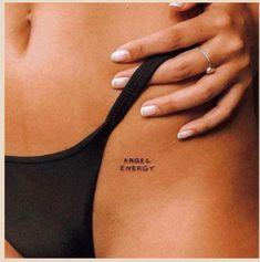 Small Bff Tattoos, Hip Tattoo Small, Dainty Tattoos, Pretty Tattoos, Mini Tattoos, Cute Tattoos, Small Words Tattoo, Harry Tattoos, Leo Tattoos