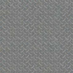 Seamless texture of sheet of grey metal with embedded leaf-like shapes in surface.