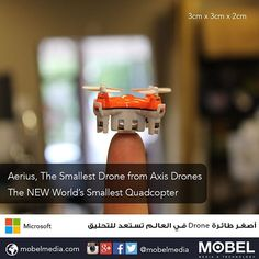 #Aerius from #AxisDrones is the Worlds smallest #drone aagets ready to take flight