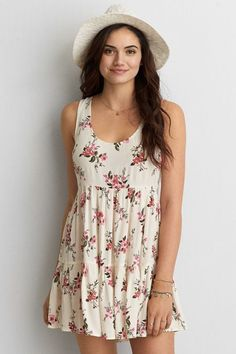 American Eagle Outfitters AEO Tiered Babydoll Dress