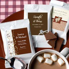 hot chocolate wedding favors   ... Holiday Gourmet Hot Chocolate Packets: ForeverWed, Wedding Favors