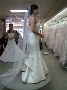 Wedding dress french bustles