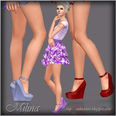 Milina Sims: Shoes on a platform sole by Milina